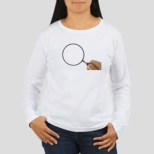Magnifying Glass Women's Long Sleeve T-Shirt