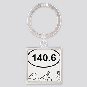 140 Oval w figures 1 Square Keychain
