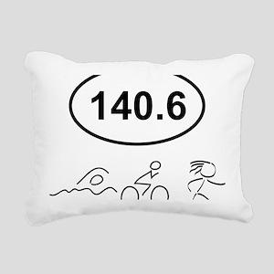 140 Oval w figures 1 Rectangular Canvas Pillow
