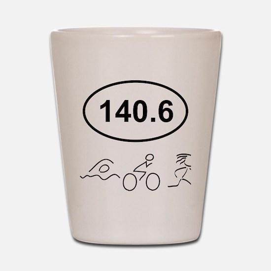 140 Oval w figures 1 Shot Glass