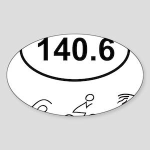140 Oval w figures 1 Sticker (Oval)