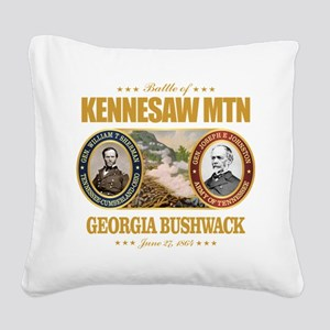 Kennesaw Mountain Square Canvas Pillow