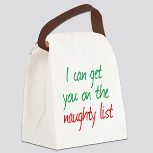 naughty_list Canvas Lunch Bag