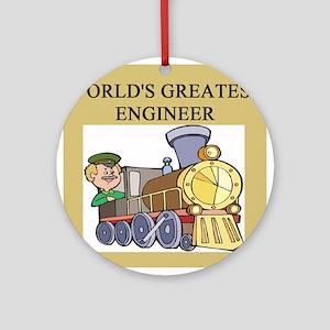 funny joke engineers engineering Ornament (Round)