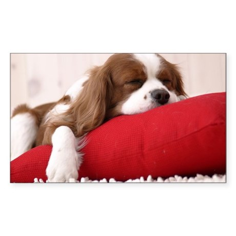 Spaniel note Sticker (Rectangle)