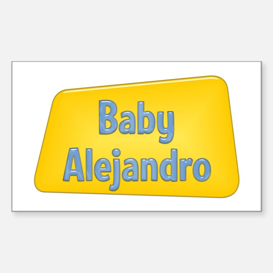 Baby Alejandro Rectangle Decal