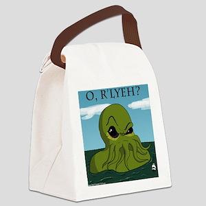 cthulu Canvas Lunch Bag
