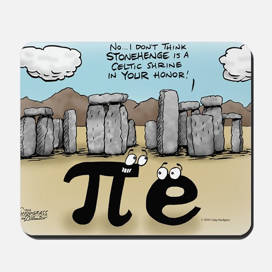 Pi_57 Stonehenge (10x10 Color) Mousepad