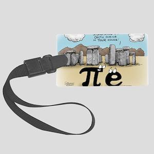Pi_57 Stonehenge (10x10 Color) Large Luggage Tag