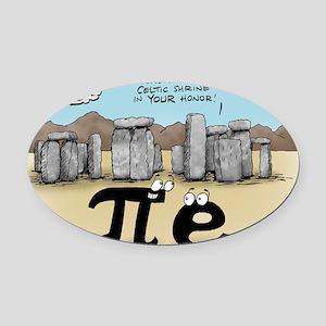 Pi_57 Stonehenge (10x10 Color) Oval Car Magnet