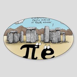 Pi_57 Stonehenge (10x10 Color) Sticker (Oval)