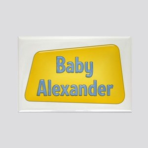 Baby Alexander Rectangle Magnet