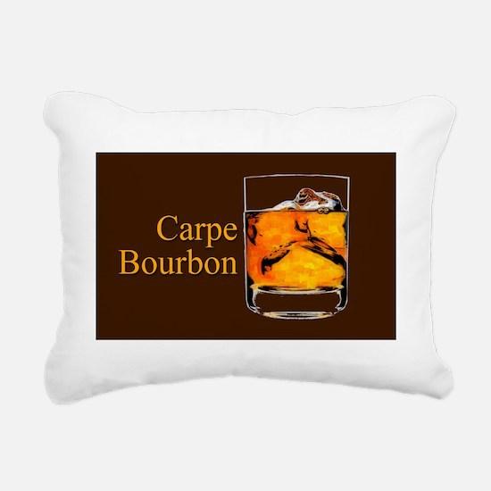 Carpe Bourbon Oval Rectangular Canvas Pillow