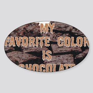 Favorite color Sticker (Oval)