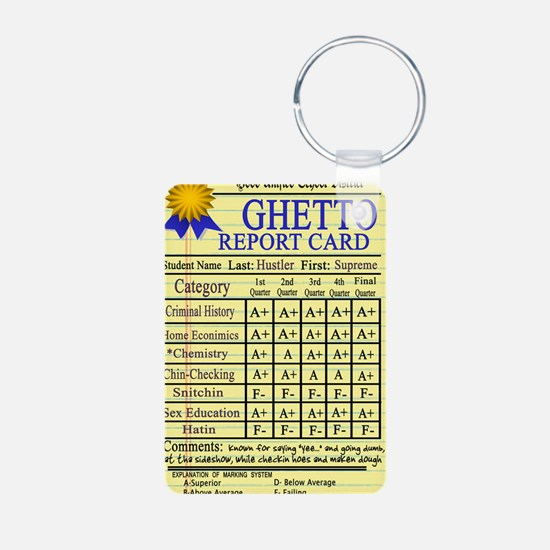Ghetto Report Card -- T-Sh Keychains