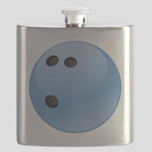 Blue bowling ball Flask