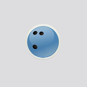 Blue bowling ball Mini Button