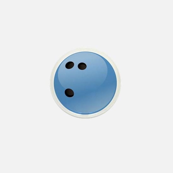 Blue bowling ball Mini Button