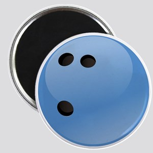 Blue bowling ball Magnet
