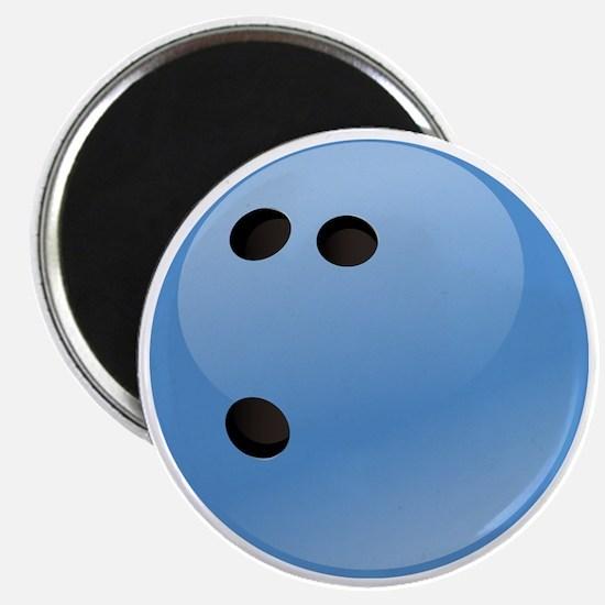 Blue bowling ball Magnet