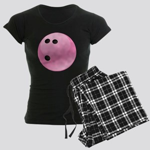 Pink Bowling Ball Women's Dark Pajamas