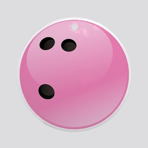 Pink Bowling Ball Round Ornament