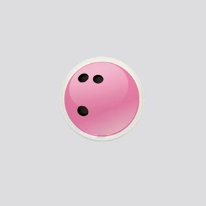 Pink Bowling Ball Mini Button
