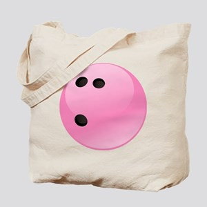 Pink Bowling Ball Tote Bag
