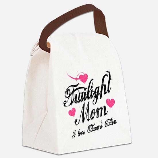Twi Mom Hearts Mug Canvas Lunch Bag