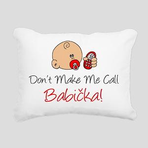 Czech Babicka Rectangular Canvas Pillow