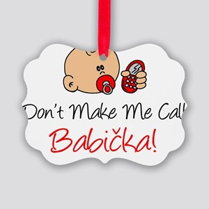 Czech Babicka Picture Ornament