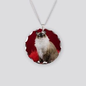 Maddie Round Ornament Necklace Circle Charm