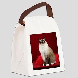 Maddie Round Ornament Canvas Lunch Bag