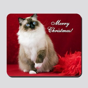 Maddie Merry Christmas Tile Coaster Mousepad
