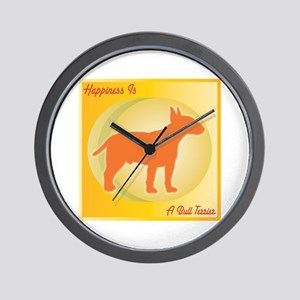 Terrier Happiness Wall Clock