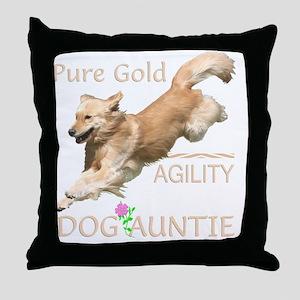 GoldenAgilityDogAuntie85Merge Throw Pillow