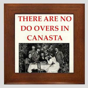 CANASTA. gifts t-shirts Framed Tile