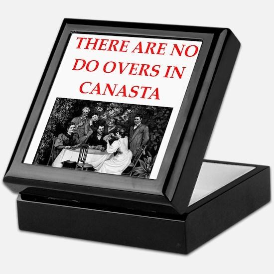 CANASTA. gifts t-shirts Keepsake Box