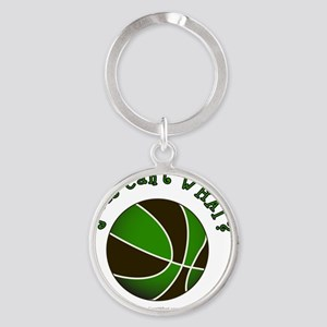 basketball-black-green Round Keychain