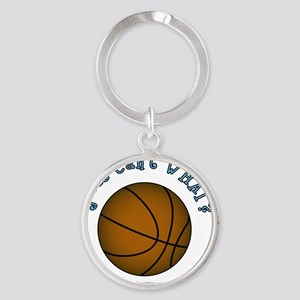 basketball-brown-sky Round Keychain