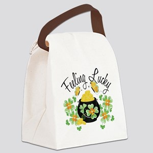 feelingluckypot Canvas Lunch Bag
