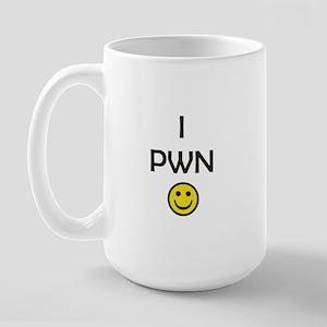 i pwn smiley Large Mug