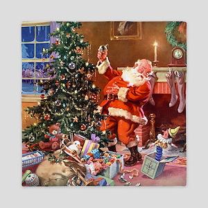 Santa Claus 1_SQ_ADJ Queen Duvet