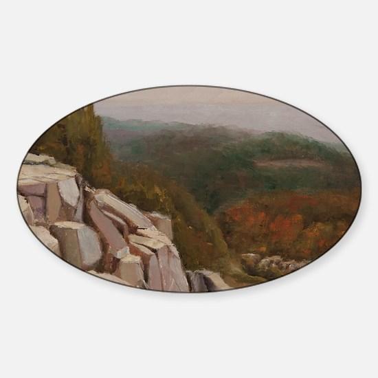 View from Carlton Peak Sticker (Oval)