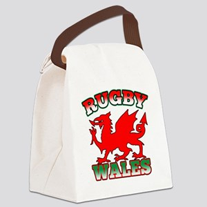 Rugby Wales Flag Dragon Canvas Lunch Bag