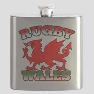 Rugby Wales Flag Dragon Flask