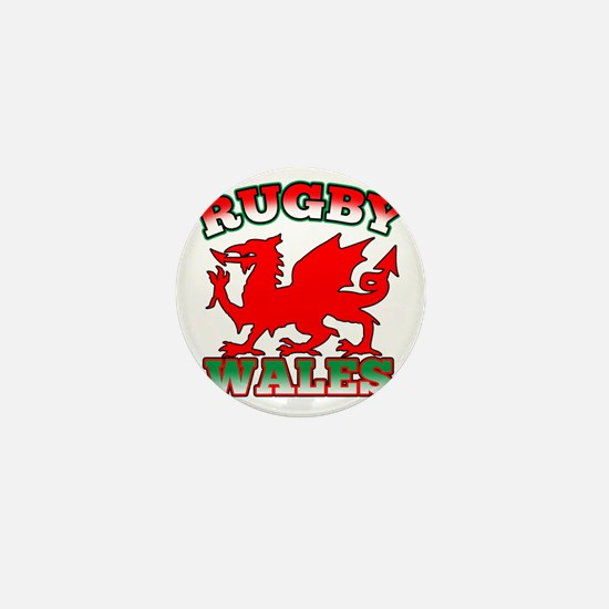 Rugby Wales Flag Dragon Mini Button