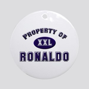 Property of ronaldo Ornament (Round)
