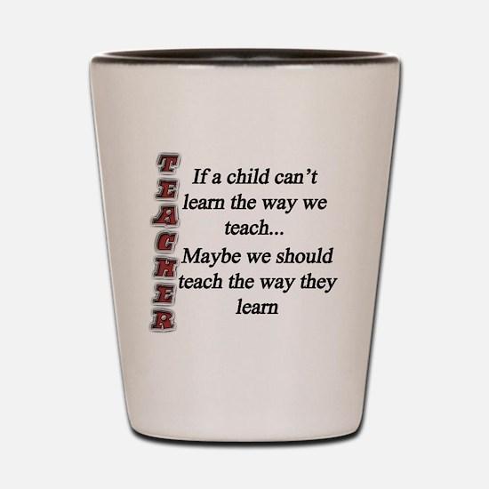 Child Learning copy Shot Glass