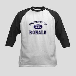 Property of ronald Kids Baseball Jersey